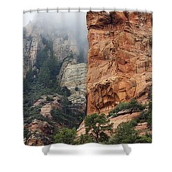 Shower Curtain featuring the photograph Rollings Mists by Phyllis Denton