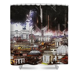 Shower Curtain featuring the painting Roma Aeterna by Kai Saarto