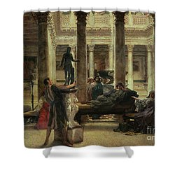 Roman Art Lover Shower Curtain by Sir Lawrence Alma-Tadema