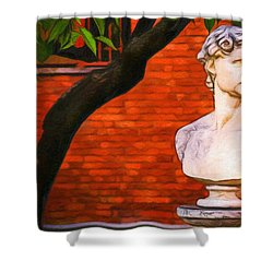 Roman Bust, Loyola University Chicago Shower Curtain by Vincent Monozlay