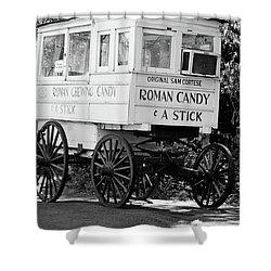 Roman Candy - Bw Shower Curtain
