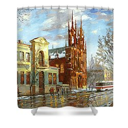 Roman Catholic Church Shower Curtain by Dmitry Spiros