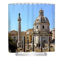 Roman Forum Shower Curtain by Edward Fielding