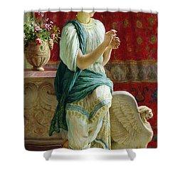 Roman Girl Shower Curtain by Guglielmo Zocchi