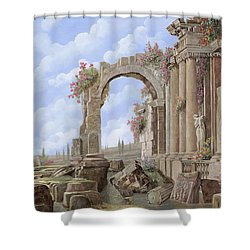 Roman Ruins Shower Curtain by Guido Borelli