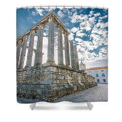 Roman Temple At Evora Shower Curtain