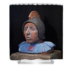 Roman Warrior Roemer - Roemer Nettersheim Eifel - Military Of Ancient Rome - Bust - Romeinen Shower Curtain