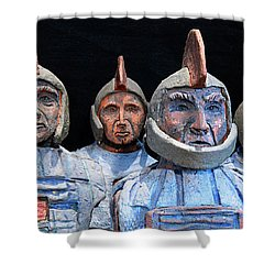 Roman Warriors - Bust Sculpture - Roemer - Romeinen - Antichi Romani - Romains - Romarere Shower Curtain