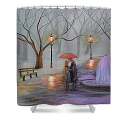 Romance In The Park Shower Curtain