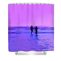 Romance On The Beach Shower Curtain