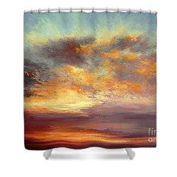 Romance Shower Curtain by Valerie Travers
