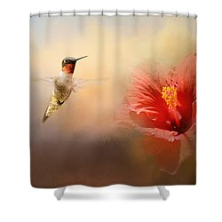 Romancing The Hibiscus Shower Curtain