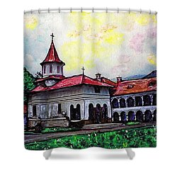 Romanian Monastery Shower Curtain
