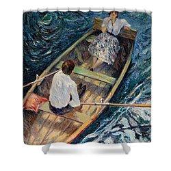Dordogne , Beynac-et-cazenac , France ,romantic Boat Trip Shower Curtain by Pierre Van Dijk