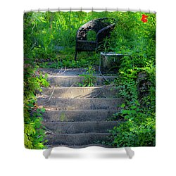 Romantic Garden Scene Shower Curtain by Teresa Mucha