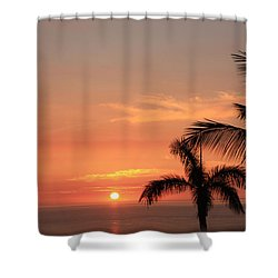 Romantic Hawaiian Sunset Shower Curtain