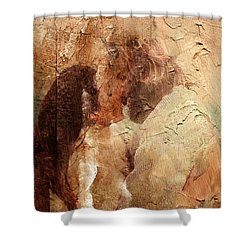 Romantic Kiss Shower Curtain by Andrea Barbieri
