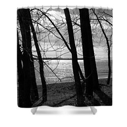 Shower Curtain featuring the photograph Romantic Lake by Valentino Visentini