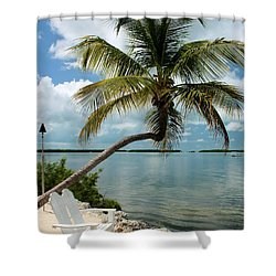 Romantic Lovers Bench Shower Curtain