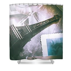 Romantic Paris Memory Shower Curtain