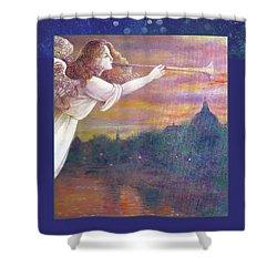 Romantic Paris Nocturne With Angel Shower Curtain