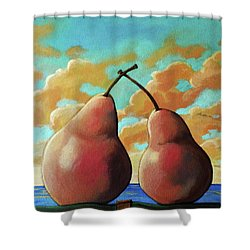 Romantic Pear Shower Curtain