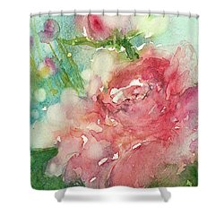romantic Rose Shower Curtain by Judith Levins