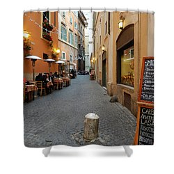 Romantic Streetside Cafe Shower Curtain