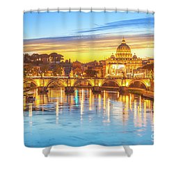 Rome At Twilight Shower Curtain