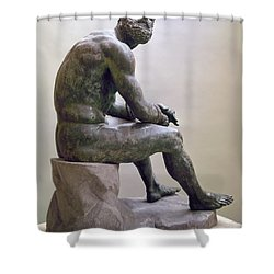 Rome Boxer Sculpture Shower Curtain by Granger