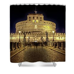 Rome Castel Sant Angelo Shower Curtain by Joana Kruse