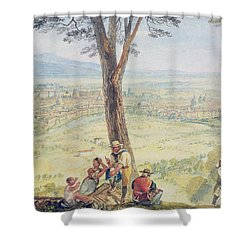 Rome From Monte Mario Shower Curtain by Joseph Mallord William Turner