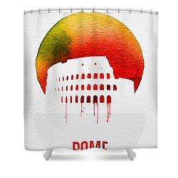 Rome Landmark Red Shower Curtain