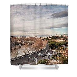 Rome - Panorama  Shower Curtain by Sergey Simanovsky