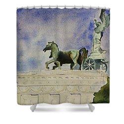 Rome Souvenir Shower Curtain by Geeta Biswas