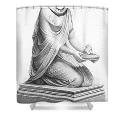 Rome: Vestal Virgin Shower Curtain by Granger