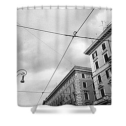 Rome's Downtown Cable Sky Shower Curtain