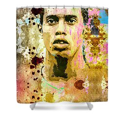 Ronaldinho Gaucho Shower Curtain by Svelby Art