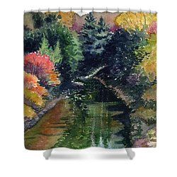 Shower Curtain featuring the painting Ronceverte, Wv by Katherine Miller