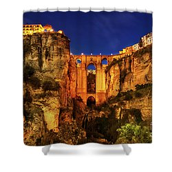 Ronda By Night Shower Curtain