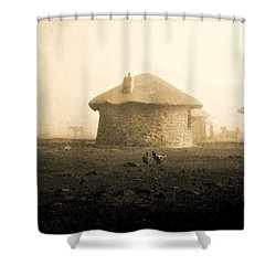Shower Curtain featuring the photograph Rondavel In Lesotho by Susie Rieple