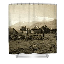 Shower Curtain featuring the photograph Rondavel In The Drakensburg by Susie Rieple