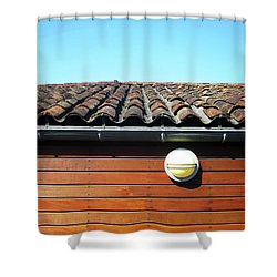 Roofline Ripples Shower Curtain