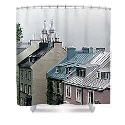 Shower Curtain featuring the photograph Rooftops by John Schneider