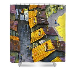 Rooftops Shower Curtain by Mikhail Zarovny