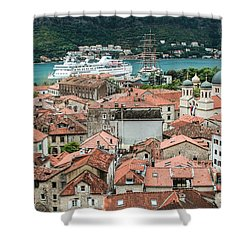 Rooftops Of Kotor  Shower Curtain