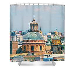 Shower Curtain featuring the photograph Rooftops Of Seville - 1 by Mary Machare
