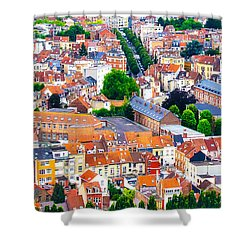 Shower Curtain featuring the photograph Rooftops by Pravine Chester
