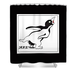 Rookery Correspondent Frizbie Shower Curtain by Dawn Sperry