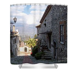 Room With A View Shower Curtain by Judy Kirouac